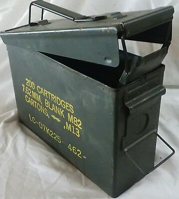 US Military 30cal M19A1 Ammo Can Watertight Airtight Steel 10x3.5x7 FREE SHIP