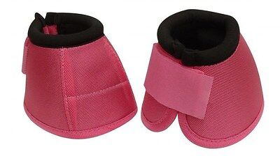 Pair of PINK Size LARGE Heavy Duty No Turn Horse Bell Boots by Showman! NEW TACK