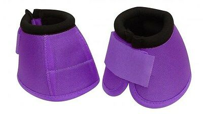 PURPLE Size LARGE Heavy Duty No Turn Horse Bell Boots by Showman! NEW HORSE TACK