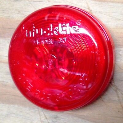 LOT OF TWO Red #30200R 2 Truck-Lite 30 Series Marker and Clearance Light