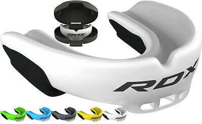 RDX Gel Gum Shield & Case Mouth Guard Boxing MMA Junior Adult Rugby Mouthpiece G