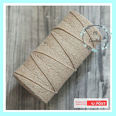 12 PLY BAKERS TWINE STRING NATURAL ~ Craft Gift Party Favour Scrapbook Wedding~