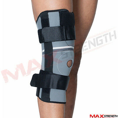Adjustable Hinged Knee Support Neoprene Pain Relief Strap Steel Medical Brace
