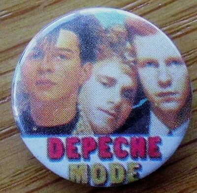 DEPECHE MODE OLD METAL BUTTON BADGE FROM THE 1980's JUST CAN'T GET ENOUGH