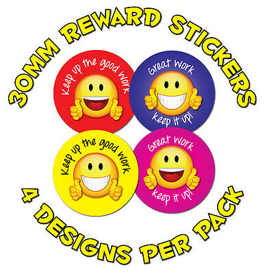 144 x 30mm 'Great Work' - Childrens Reward Stickers - Schools,Teachers, Parents