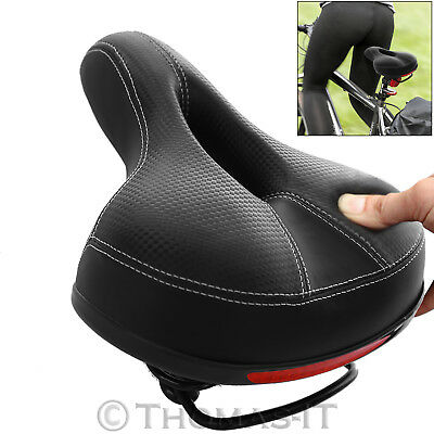 Wide Extra Comfy Big Bum Bike Bicycle Dual Spring Comfort Sport Pad Saddle Seat