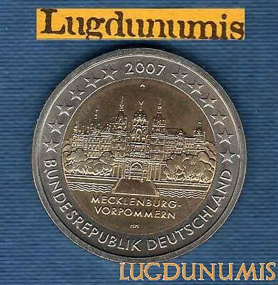 2 euro Commémo - Allemagne 2007 Chateau Schwerin A Berlin Germany