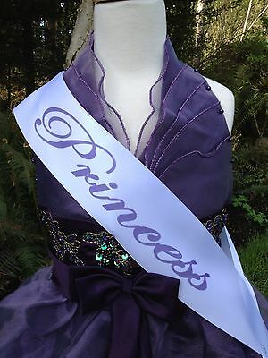 Child Size Personalized Birthday Princess Sash CHOOSE YOUR OWN WORDING