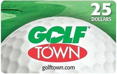 Golftown Gift Card - $25 Mail Delivery