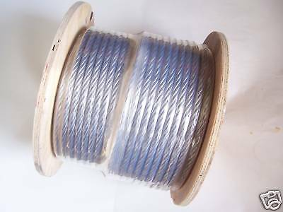 """Galvanized Wire Rope Cable, 3/8"""", 7x19, 200 ft reel."""