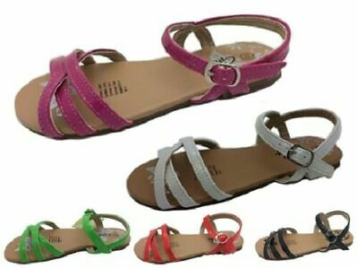 Girls Shoes Grosby Tess Black Pink Red Green White Patent Sandals Size 10-5 New