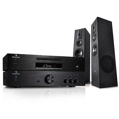 600W Home Hifi Stereo Sound System Cd Amplifier Floor Standing Speakers Fm Radio