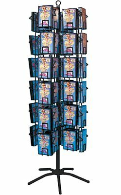 72 Pocket DVD CD Retail Music Video Store Spinner Floor Display Rack Black New