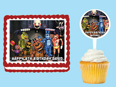 Five Nights at Freddy's Edible Cake Topper Cupcake Decoration Birthday Party