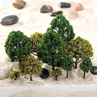 40Pcs Multi Scale Model Trees Train Architecture Diorama Scenery Layout HO Scale
