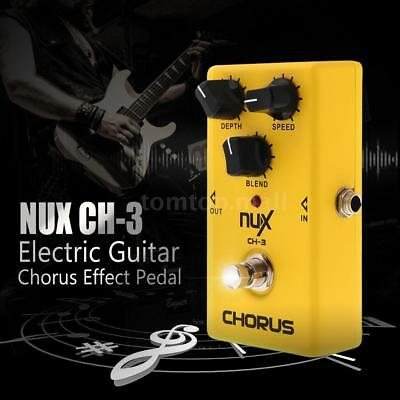 NUX CH-3 Chorus Low Noise Effect Pedal BBD True Bypass for Guitar Electric 4R3O