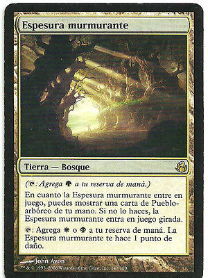mtg Magic 1x Murmuring Bosk ( Espesura murmurante ) Spanish GOOD