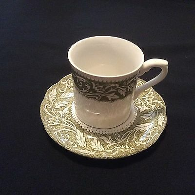 J. G. Meakin Green Sterling Renaissance China Cup and Saucer