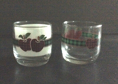 Applejack International Anchor Hocking Ingleman Design Set of 2 Juice Tumblers