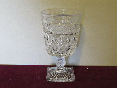 Antique Elegant Imperial Crystal Cape Cod Water Goblet Diamond Ball Stem VFC