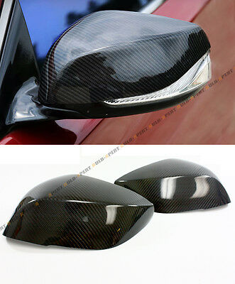 For 2014-2019 Infiniti Q50 S Direct Add-On Carbon Fiber Side Mirror Cover Caps