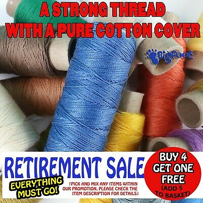 100m COTTON COVERED POLYESTER STRONG SEWING THREAD. UPHOLSTERY,LEATHER,QUILTING