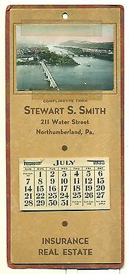 1935 Northumberland,PA Stewart Smith Insurance/Real Estate Calendar