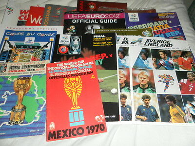 World Cup And European Finals Programmes + Brouchers - Select From List England