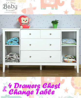 Baby Change Table, 4 Drawers, Changing Table