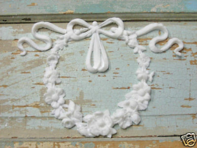 SHABBY n CHIC ARCHITECTURAL FLORAL WREATH * FLEXIBLE