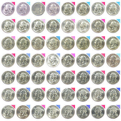 1968-1981 1984-1998 P D Washington Quarters Mint Cello Set BU Run 56 US Coin Lot