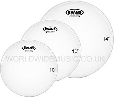 "Evans G2 Coated Fusion Tom Tom Drum Head Pack -  10"" 12"" 14""      ETP-G2CTD-F"