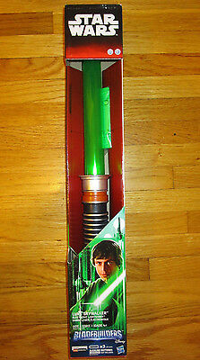 Star Wars Luke Skywalker Deluxe Electronic Lightsaber Return Of The Jedi Green