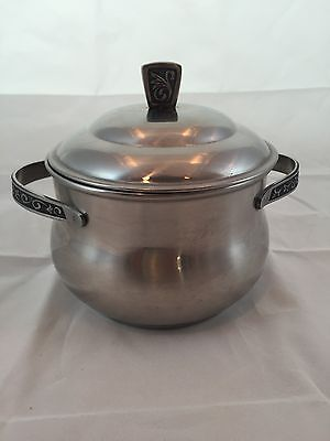 Monterey Stainless Steel Hollowware Covered Hostess Server Pot SHIP INCL