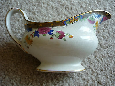 Booths Antique Gravy Boat/c 1906/pink, Yellow, Blue Floral