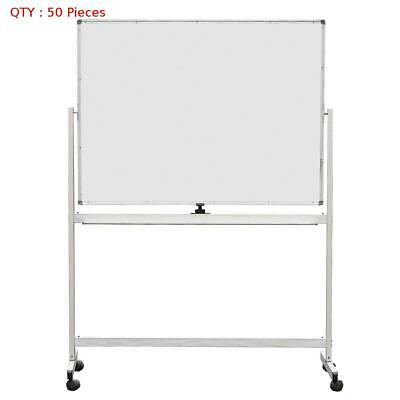 50 X New 900X1200Mm Double Sided Magnetic Whiteboard With Aluminum Stand E0