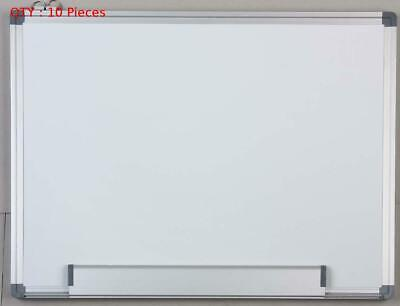 10 X New 900X1800Mm Single Side Aluminum Frame Magnetic Drywipe Whiteboard E0