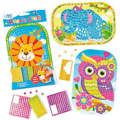 Stick 'n' Mosaic Craft Kits for Children to Make (Pack of 4)