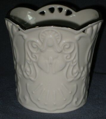 Lenox Merry Lights Angel Votive Candle Holder Sculpted Bas-relief LN