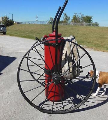 Springfield French & Hecht Firefighting Fireman Wheeled Fire Extinguisher