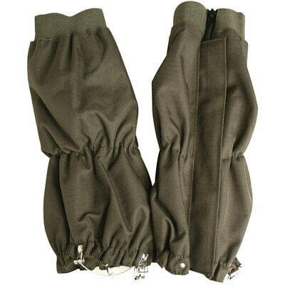 Adult Waterproof Breathable Lightweight Military Army Hiking Gaiters Olive Green