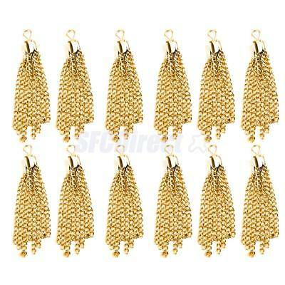 12pcs Tassel Pendent Charms for Jewelry Necklace Bracelet Making DIY Findings