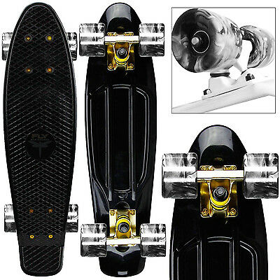 "BRAND NEW CLASSIC BLACK GOLD 22"" Penny Style Skateboard"