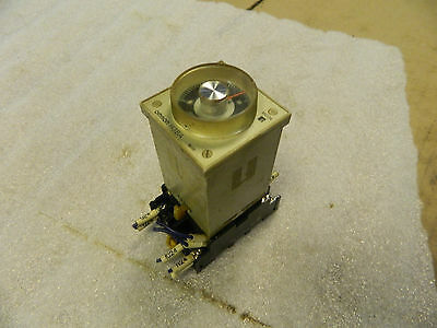 Omron Timer Relay, H3BA, 0 - 1.0 Sec., 24 VDC, W/ Base Unit, Used, Warranty