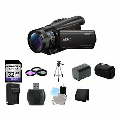 Sony FDR-AX100 4K Ultra HD Camcorder - Black 32GB Package
