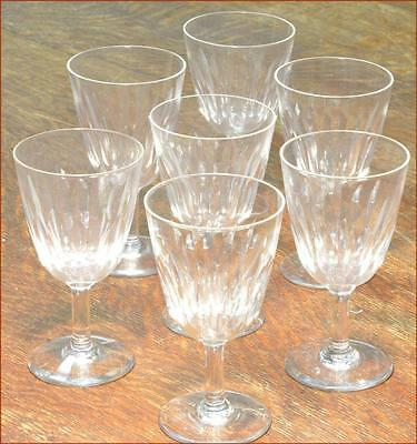 "Baccarat Crystal Lorraine Sherry / Wine Stems 4.75"" Excellent Set Of Seven"