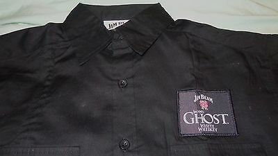 Jim Beam Ghost Whiskey - Button Down Dress Shirt..Black..NEW..Men's Medium