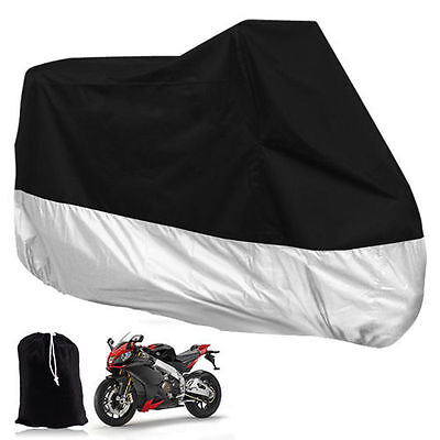 Large L Waterproof Motorcycle Outdoor Vented Motor Bike Scooter Dust Rain Cover