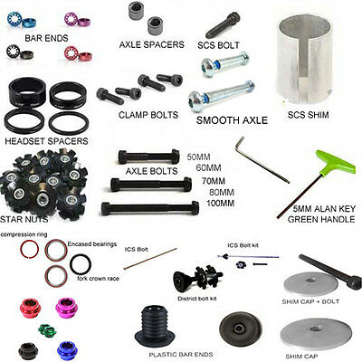 Stunt Scooter Scs Shim Cap Clamp Axle Ics Bolt Headset Spacer Alan Key Bar End