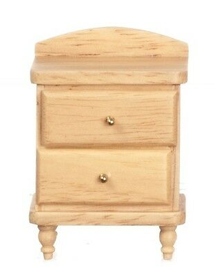 Pine Bedside Cabinet Dolls House Miniature Furniture Bedroom 1/12 scale